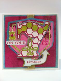 7th birthday card by Courtney Lane Designs made with Letter Envy cartridge