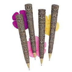 aloha polynesian, beachcomb polynesian, aloha beachcomb, tiki pen, polynesian tiki, gifts, pen gift, design, pens