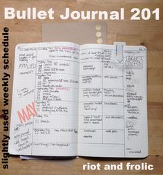 Bullet Journal (Weekly Task List: Lists tasks, meal planning, shopping list, notes,...)
