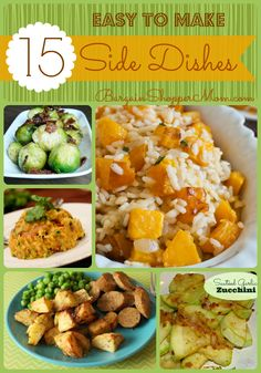 15 easy to make side dish recipes