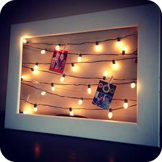 Lighted Christmas Card Display
