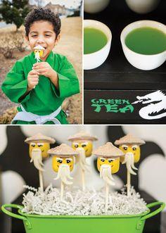 Lego Ninja Warrior Ninjago Inspired Birthday Party: Sensei Wu Cake Pops
