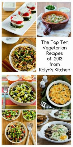The Top Ten Vegetarian Recipes of 2013 from Kalyn's Kitchen (and a few Honorable Mentions) [from Kalyn's Kitchen] #MeatlessMonday