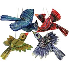Painted Tooling Foil Birds - Project #116 - United Art and Education