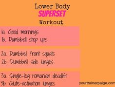 Lower Body Superset Workout