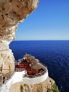 SEASIDE CAFE, MENORCA, SPAIN #travel #awesome #places Visit www.hot-lyts.com to see great background images