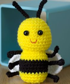 Crochet Baby Bee Free Pattern from Red Heart Yarns