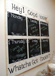 menu board or can be helper board