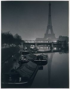 The Eiffel Tower at Twilight, 1932.  by Brassaï