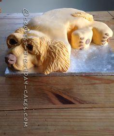 Cutest Working Cocker Spaniel 8th Birthday Cake... a cool homemade cake idea.