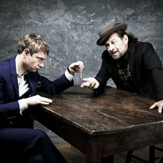 That's one table of brilliant crazy right there. Martin Freeman and Andy Serkis.