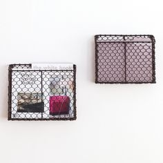 Wall Mounted Wire Baskets for mail etc.