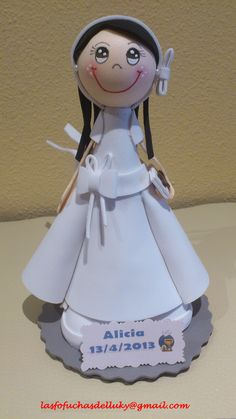Fofucha de Primera Comunión Alicia/Fofucha doll First Comunion made for Alicia