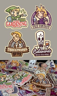 Gaming Stickers by ~cronobreaker on deviantART