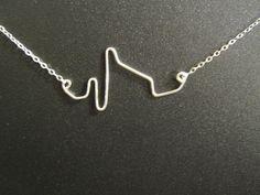 Heartbeat Necklace, Heart Attack, Myocardial Infarction, scientifically accurate heartbeat, STEMI, EKG necklace, Nurse Jewelry, morbid on Etsy, $38.50