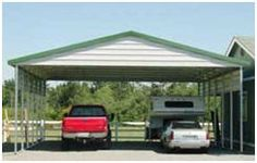 AbsoluteRV.com has do-it-yourself steel carport building kits in a variety of styles and sizes.