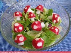 Mario salad--radishes.  Wesley loves radishes.