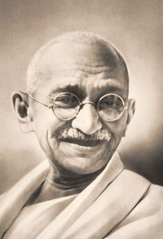 Mahatma Gandhi (1869–1948) was the leader of the Indian independence movement, defeating the British raj with mass organizing and nonviolent protests.