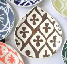 bowl, handmade pottery, painted plates, pattern, color, handmade home, appetizers, apartments, print