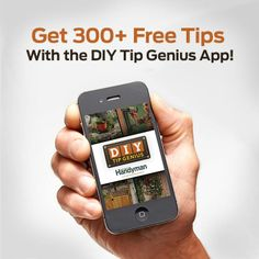 Become a DIY Genius! Download the DIY Tip Genius and get hundreds of tips and home improvement ideas for every level of DIYer. ***Repinned by Normoe, the Backyard Guy (#1 Backyard Guy on Earth). Follow us on; twitter.com/backyardguy
