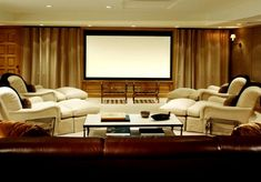 Different furniture layout for theater room