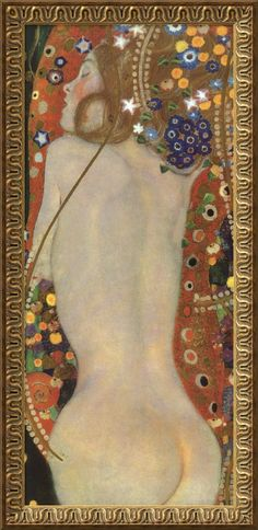 And bending down beside the glowing bars,      Murmur, a little sadly, how Love fled      And paced upon the mountains overhead      And hid his face among a crowd of stars.  -Yeats/Klimt