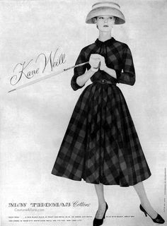 Couture Allure Vintage Fashion: Mad for Plaid - 1956  I love the comparisons of price in this post