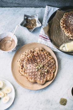 Whole Grain Banana Bread Waffles (with cinnamon-sugar) by topwithcinnamon #Waffles #Banana_Bread #Whole_Grain #Healthy