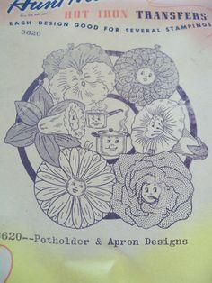 Vintage Aunt Marthas Embroidery Transfer by fleamarketfloozie