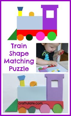 Train Shape Matching Puzzle - Craftulate