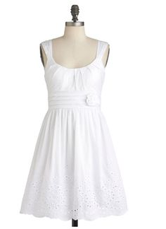 I can never have too many white sundresses :)