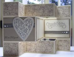 StampingPassion: Wedding Tri-fold Card