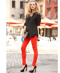Perfect combination! Fall Trend Report Black Modern Blouse Look #macysfallstyle