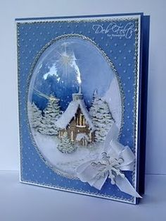 Flower Soft SnowGlobe card