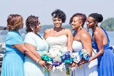 Blue and White Wedding Ideas - A Southern Wedding Mixed with City Charm in Atlanta - Munaluchi Bridal Magazine