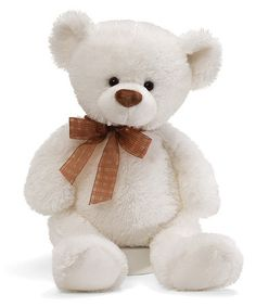 Take a look at this Frosting White Large Bear Plush Toy by GUND on #zulily today!