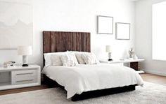 #bedroom inspiration #darkwood #white
