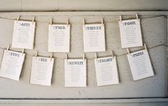 Day-Of Wedding Stationery Inspiration and Ideas: Seating Charts via Oh So Beautiful Paper (9)
