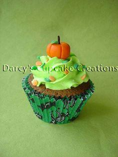 pumpkin cupcake by Darcy's Cupcake Creations, via Flickr