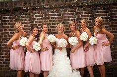 Gorgeous Pink+Grey Wedding