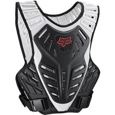 Fox Racing Titan Race Subframe Men's Roost Deflector MX/Off-Road/Dirt Bike Motorcycle Body Armor - Black/Silver / Large/X-Large