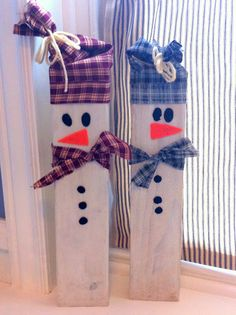 2x4 snowman, craft for kids