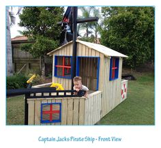 Pallet designs on pinterest cubby houses pallets and for Building a wendy house from pallets
