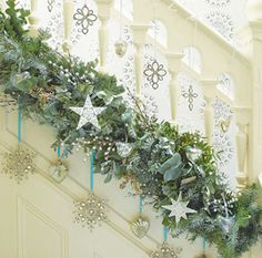 Hallway | Decorating Ideas Interesting to put garland low and not on the railing