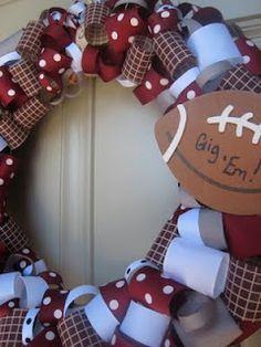 Aggie Ribbon Wreath