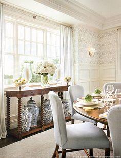 Dining Room by Alexa Hampton #Dining #Blue