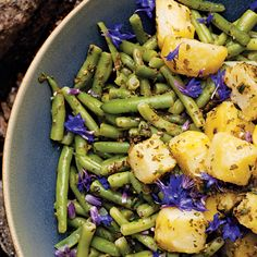 Potato Salad with Green Beans and Salsa Verde