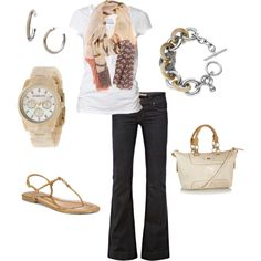 Cute and casual spring outfit!
