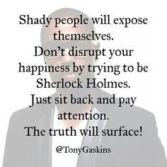 Shady people...