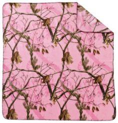 Realtree APC™ Pink Camo Fleece Throw | Bass Pro Shops